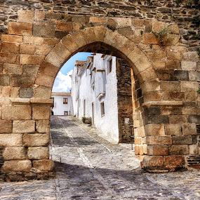 Monsaraz Castel by Ana Paula Filipe - Buildings & Architecture Public & Historical ( rustic, monsaraz, castel, village, stone )