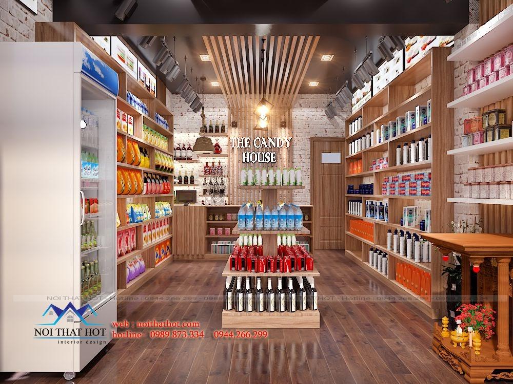 thiết kế cửa hàng bánh kẹo nhập khẩu