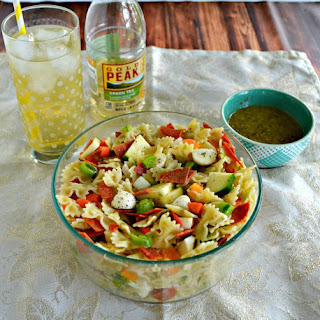 Pasta Salad with Green Tea Vinaigrette