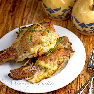 Cheese & Potato Stuffed Pork Chops.