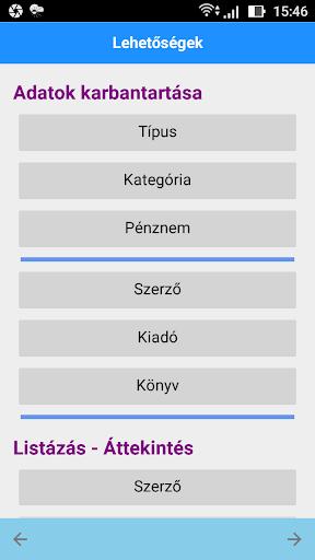 Ku00f6nyv Nyilvu00e1ntartu00e1s - Hu00e1zi Ku00f6nyvtu00e1r screenshots 2