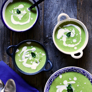 Cream of Broccoli Soup with Lemon & Mint