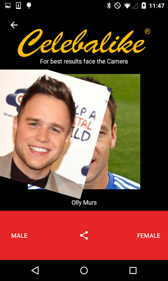 Celebalike- screenshot