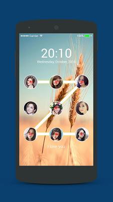 Photo lock screen - screenshot