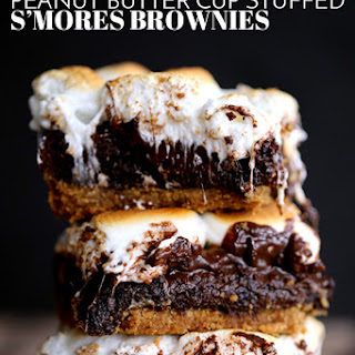 Peanut Butter Cup Stuffed S'mores Brownies.