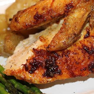Garlic Ginger Roasted Chicken.