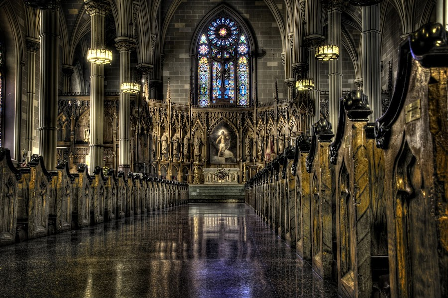 Worship  by Daniel Iemola - Buildings & Architecture Places of Worship ( church, hdr, little italy, cathedral, manhattan, new york, nyc, stained glass, mulberry )