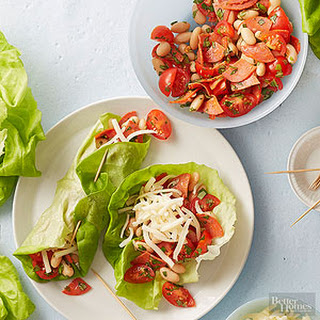 Pizza Lettuce Wraps.