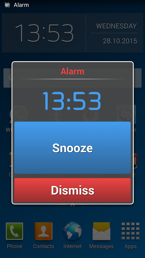 Talking Alarm Clock- screenshot