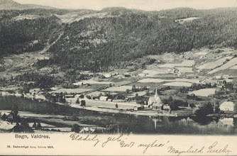 Photo: Bagn i Valdres - 1905