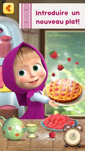 Masha: jeux de cuisine gratuit  captures d'u00e9cran 1