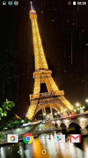 Rainy Paris Live Wallpaper