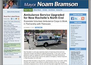 Photo: Mayor Noam Bramson website 2010