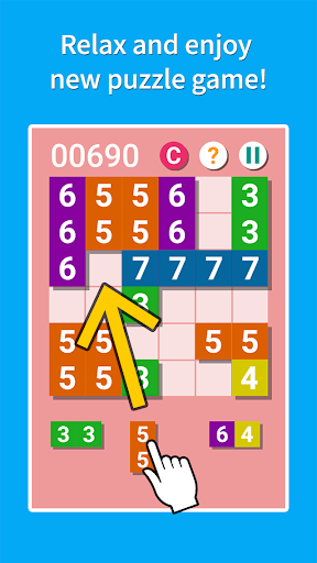 PutNumber Relaxing tile puzzle