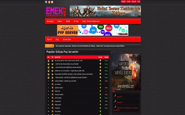 Emek Serverler - Emek Pvp Serverler