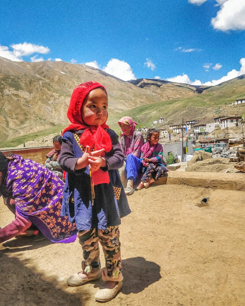 spitian+girl+chicham+villages+of+Spiti+valley+himachal+india