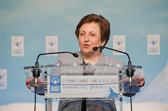 Photo: Shirin Ebadi, Nobel Peace Prize give a Testimonial for Global Justice Women: Actors of Change and Development