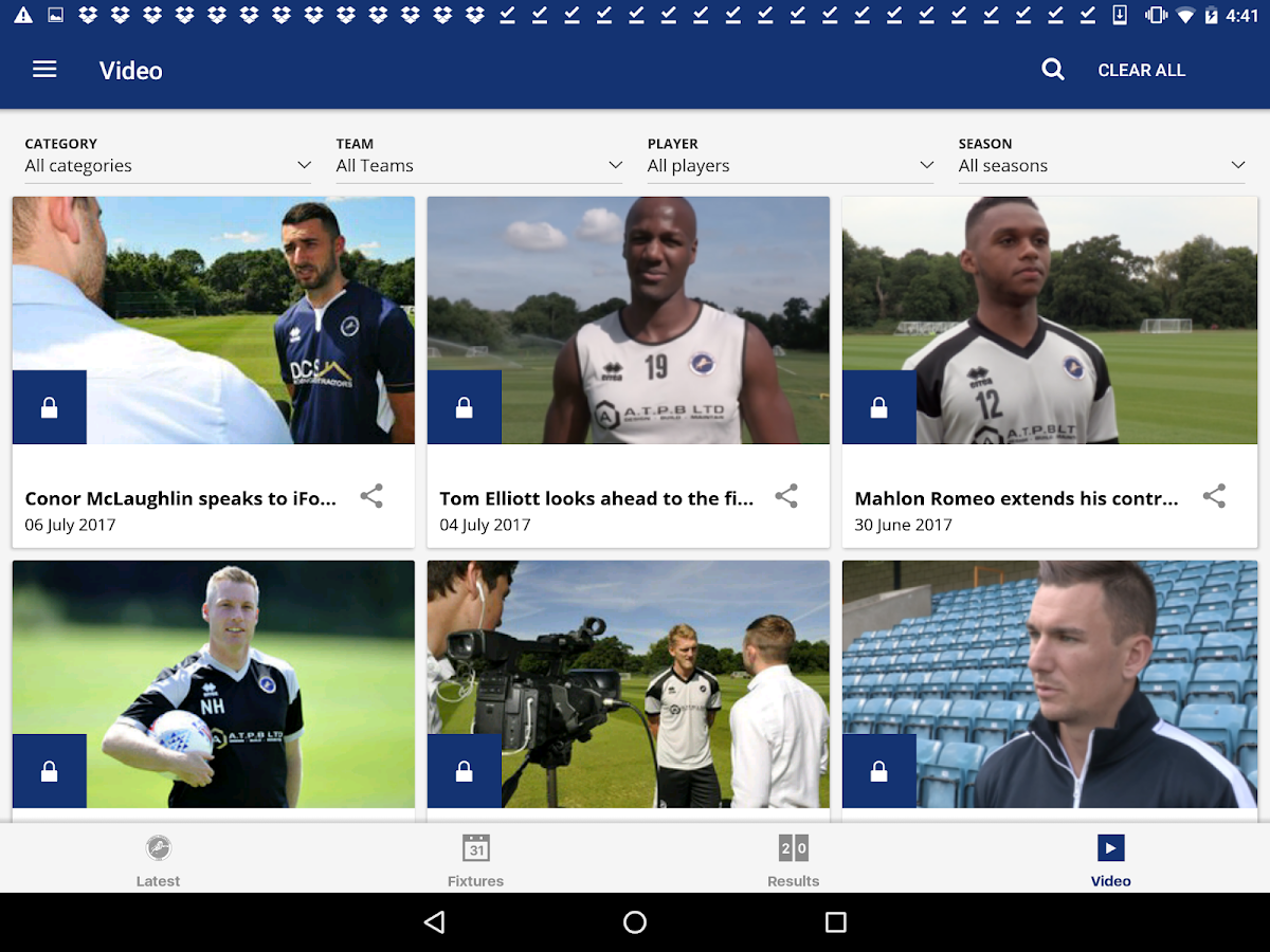 Millwall Official App- screenshot