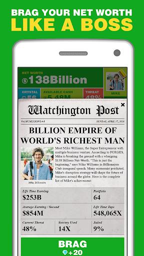 Billionaire. Screenshot