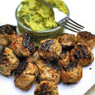 Spiced Pork Meatballs with Guacamole Recipe