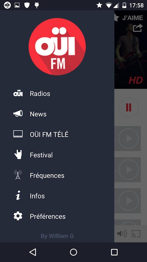 oui fm la radio rock en direct android apps on google play. Black Bedroom Furniture Sets. Home Design Ideas