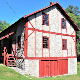 Historic Grist Mill by Linda    L Tatler - Buildings & Architecture Public & Historical