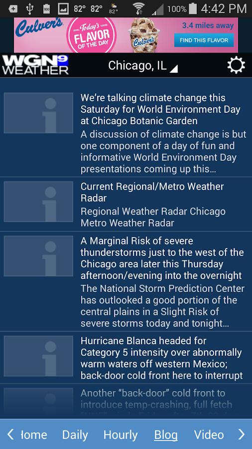 WGN Weather- screenshot