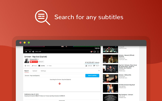 Subtitles for youtube chrome web store use this extension to add drag and drop subtitles to any youtube video ccuart