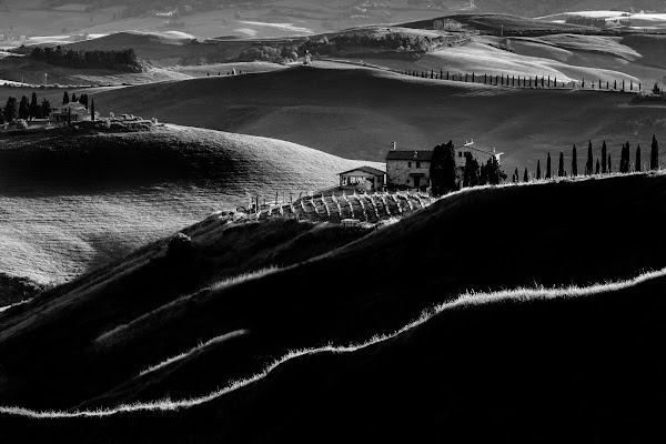 Luci ed ombre in Val d'Orcia