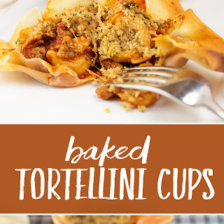 Baked Tortellini Cups