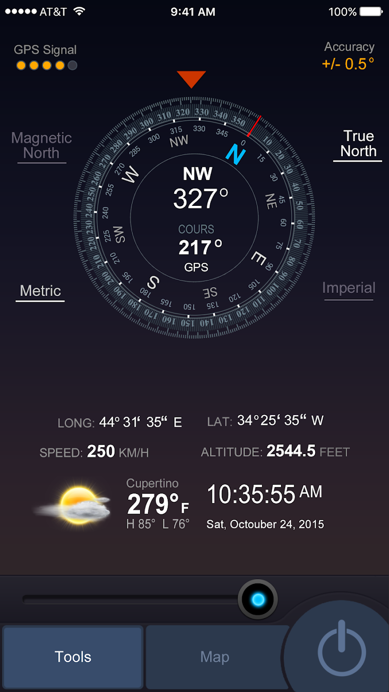 All GPS Tools Pro (Compass, Weather, Map Location) Screenshot 1
