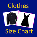 Clothes, Bra, Socks Size Chart icon