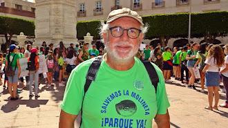 Manuel Pérez Sola, durante una actividad en la Plaza Vieja.
