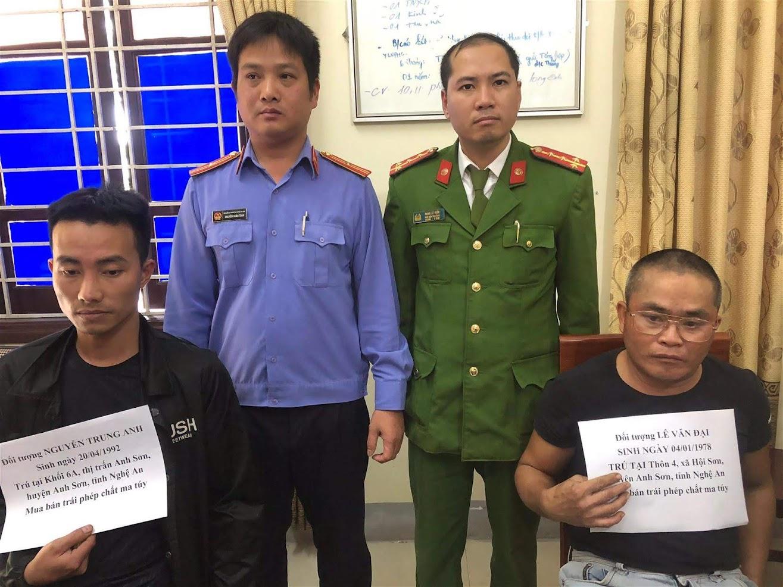 Công an huyện Anh Sơn bắt giữ 2 đối tượng (X)                                   phạm tội về ma túy