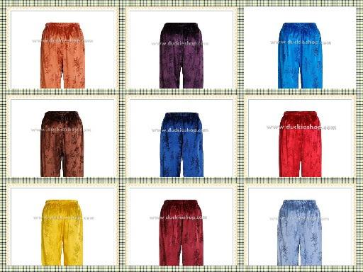 กางเกงนอนผู้ชาย ขายาว ผ้าแพรแท้ แพรโบราณ เอวยาง