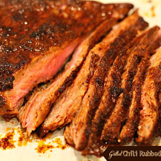 Grilled Chili Rubbed Skirt Steak.