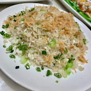 L7. Fried Rice with Dried Scallop, Ginger and Egg White 生薑瑤柱蛋白炒飯