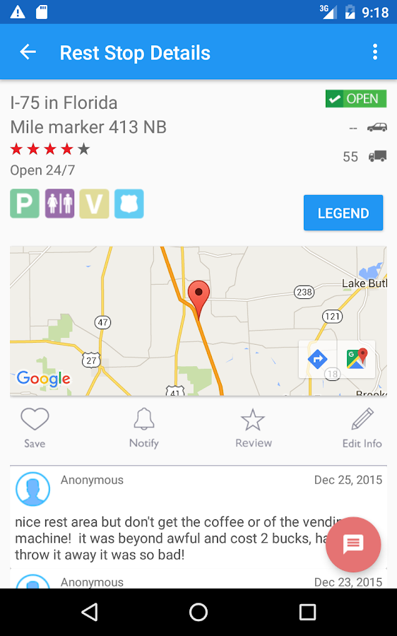 USA Rest Stop Locator- screenshot
