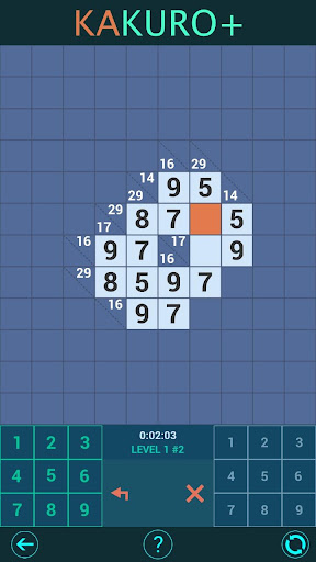 Kakuro Plus. Cross-Sums. For beginners to experts. android2mod screenshots 5