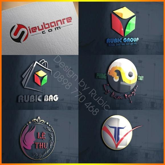 Các mẫu thiết kế logo do đội ngũ thiết kế của Rubic Group thực hiện