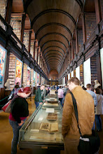 Photo: Old Library at Trinity College.  Book of Kells exhibition is highly recommended.  The library itself is gorgeous. Vaulted ceiling and busts of great writers and philosophers.