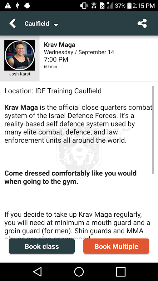 IDF Training- screenshot