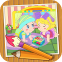 Coloringbook baby icon