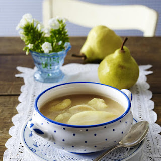 Pear Soup with Dumplings.