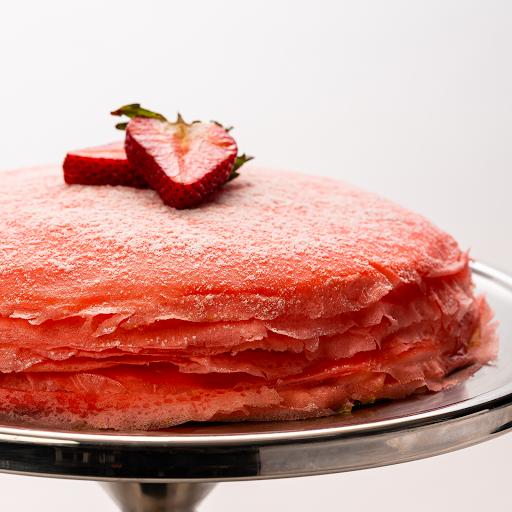 "Strawberry Mille-Crêpe Cake (9.5"" Whole Cake)"