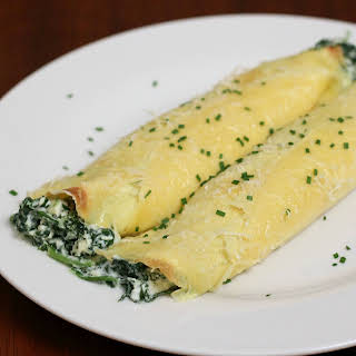Spinach and Ricotta Crepes.