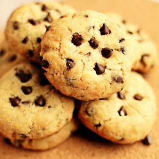 Soft Baked Eggless Chocolate Chip Cookies.