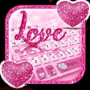 Glitter Love Heart Keyboard