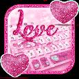 Glitter Love Heart Keyboard icon