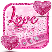 Glitter Love Heart Keyboard
